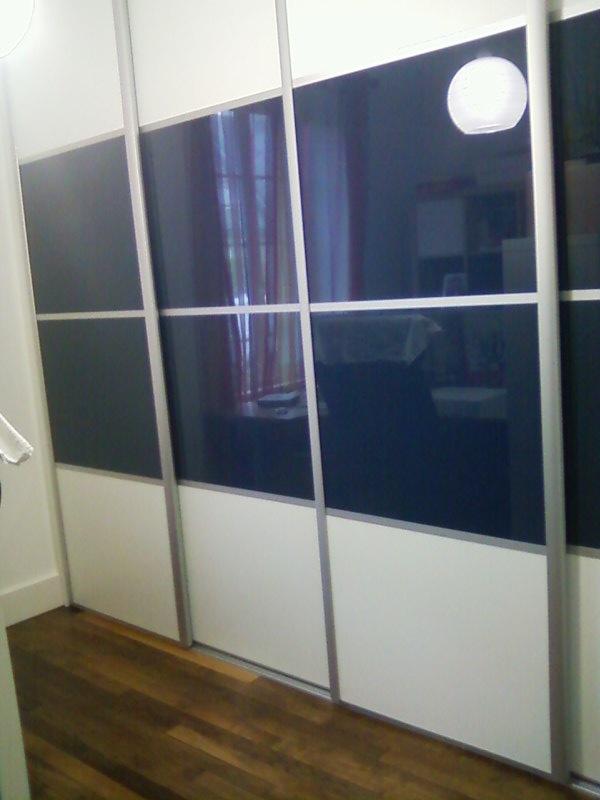 Dressing facade verre laqué