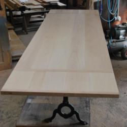 Table bistrot , plateau Hêtre massif