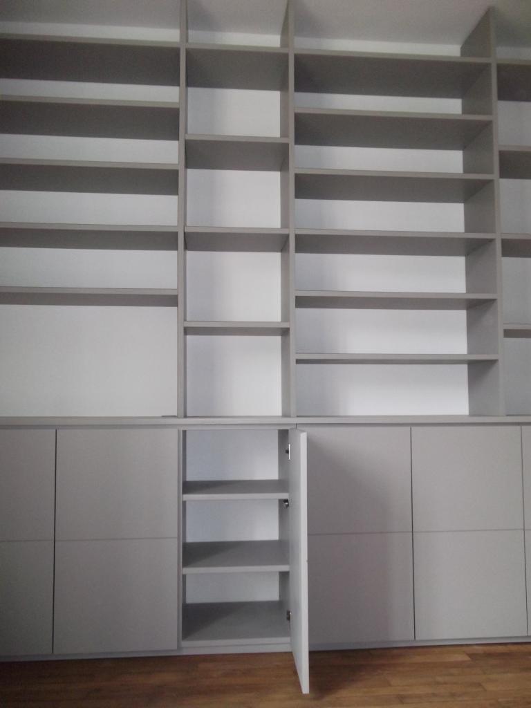 Bibliothèque MDF laqué