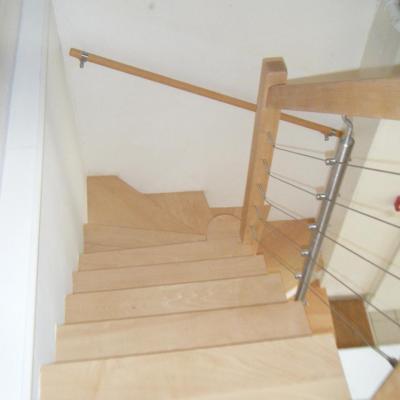 Habillage escalier béton en hêtre